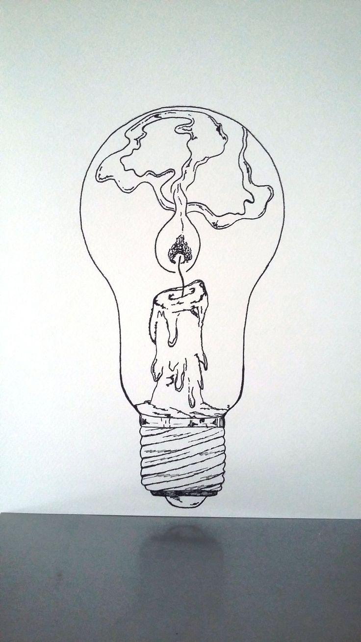 """Poster Illustration Schwarzweiss-Birne """"halte eine…"""