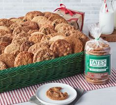 NEW: Create your own Tate's Cookie Gift Basket! Choose from 16 flavors of Tate's signature thin, crispy cookies. All Create-Your-Own Baskets ship free with code CREATEYOUROWN.🍪❤️✨ Customize your basket today: https://www.tatesbakeshop.com/build-your-own/