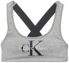 Calvin Klein šedá podprsenka Bralette Lightly Lined - 1030 Kč