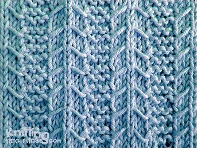 Gulls and Garter stitch -  Slipped stitch pattern  - quite easy - http://www.knittingstitchpatterns.com/2014/10/gulls-and-garter.html