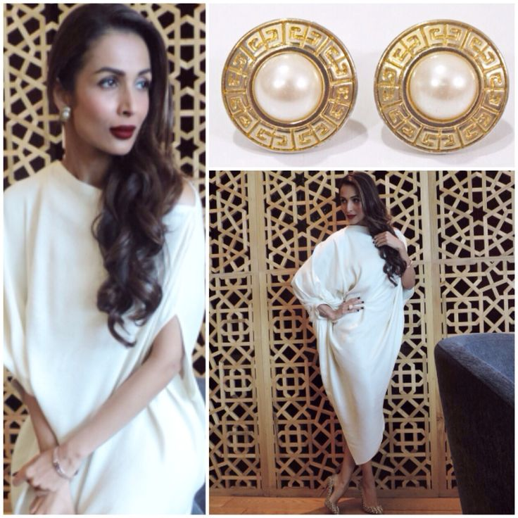 Malaika Arora Khan effortlessly wears our vintage Givenchy pearl and logo studs for a recent event. Love Love