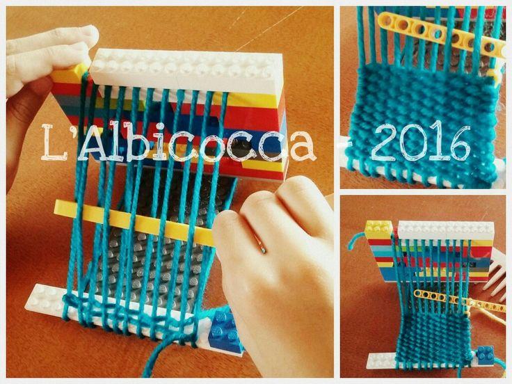 Telaio con Lego - Lego loom - Weaving - http://lalbicocca.blogspot.it