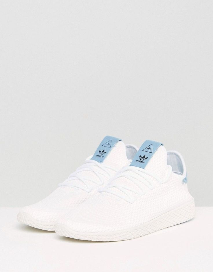 adidas Originals x Pharrell Williams Tennis HU Sneakers In White BY871