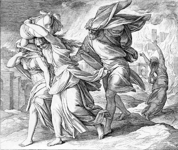 иллюстрация к библии БЫТИЕ глава 19 #библия #ветхийзaвет #Bible #иллюстрация #гравюра #картина #искусство #религия #христианство