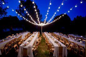 Image result for exterior wedding barn lighting