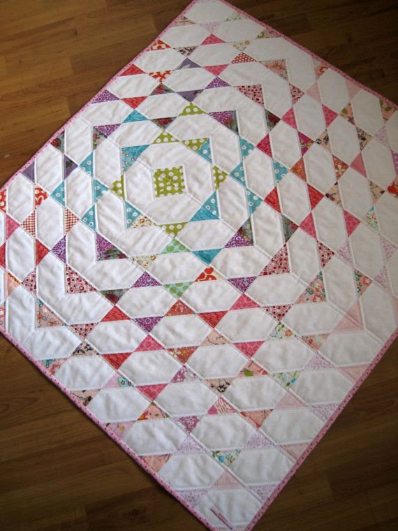 squares with triangles in opposing corners.