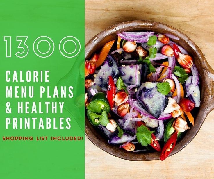 Free 7 Day 1300 Calorie Diet Menu Plan Paleo Foods
