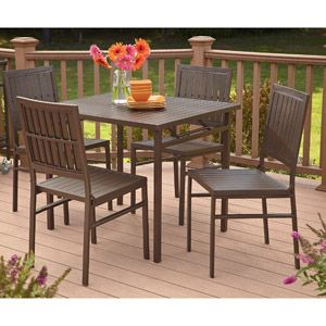 Cosco 5 Piece Folding Patio Dining Set Seats 4 129 Set Walmart Out Of Stock Staging