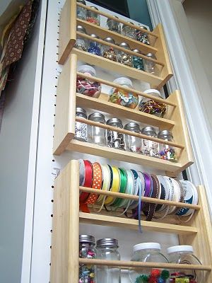 spice racks are not just for spices. they can also spice up your craft organization.
