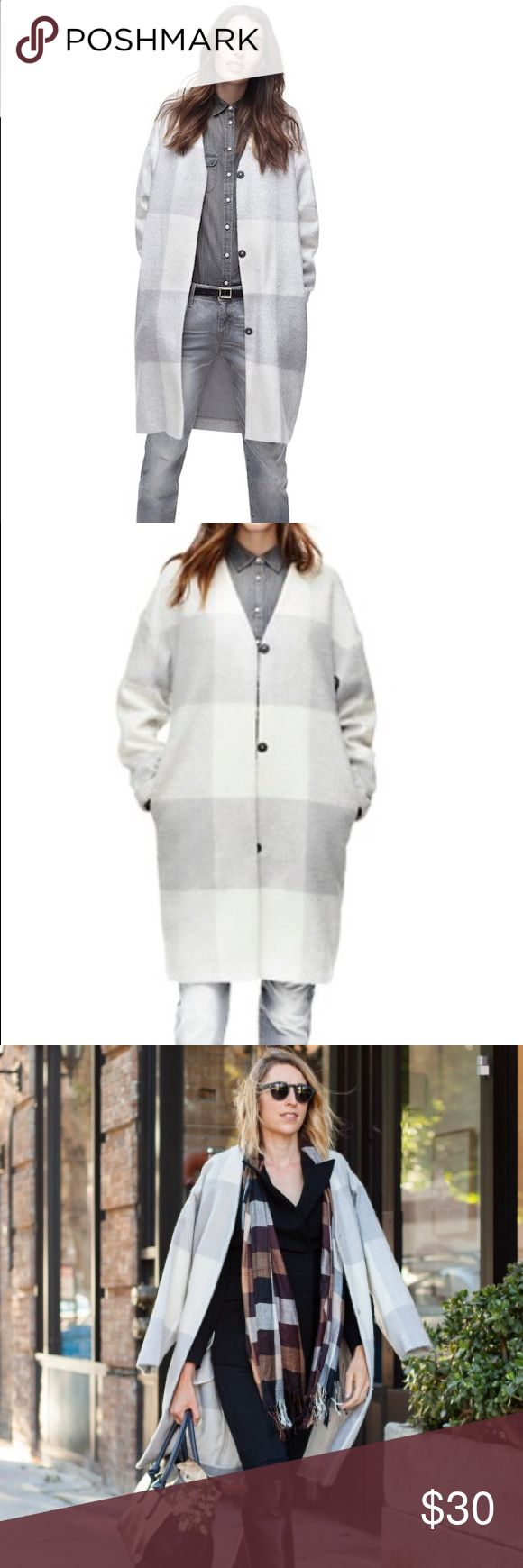 Adam Lippes for Target Mohair Coat Oversized gray and white mohair coat. It's a very Madewell look at a fraction of the price. There's no lining so it's a perfect for fall weather. I'm being lazy with my posts tonight, but I will post my actual coat soon. Adam Lippes For Target Jackets & Coats