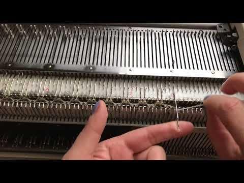 Прибавления петель на резинке 2Х2. | технология машинного вязания | Постила