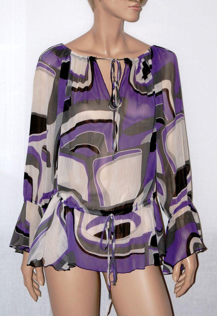 Gipsy Summer Sexy Cover Up One Size Fits All Violet Tunic T-Shirt Tunica Copricostume Donna Viola Bianco Grigio Nero Boho Taglia Unica S/M/L di BeHappieWorld su Etsy