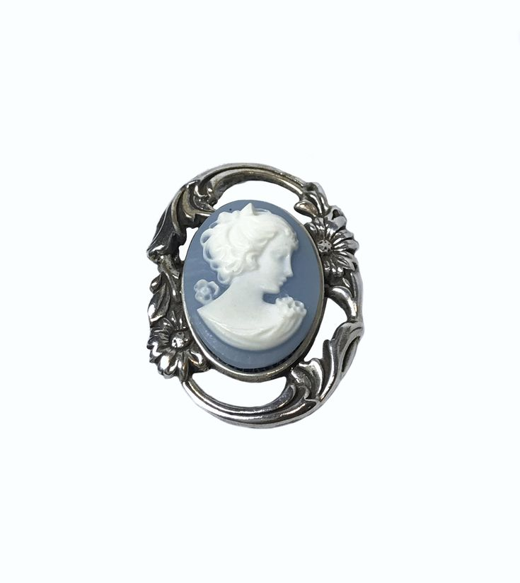 Blue and White Resin Cameo in Sterling Silver Brooch by Jezlaine https://www.etsy.com/listing/578210875/blue-and-white-resin-cameo-in-sterling?utm_campaign=crowdfire&utm_content=crowdfire&utm_medium=social&utm_source=pinterest