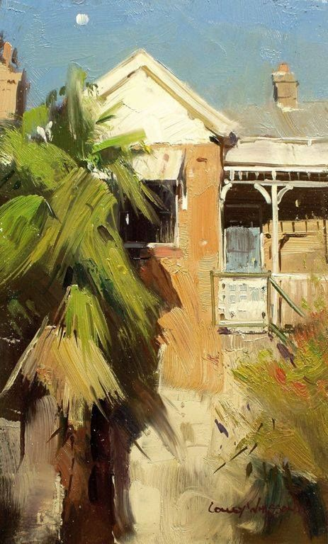 Colley Whisson A moment In time, Sydney Oil 9''x 5''
