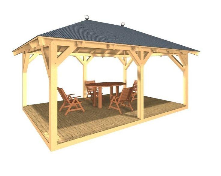 Holzpavillon Gartenpavillon Verschraubte Variante In Garten Terrasse Gartenbauten Sonnenschutz Partyzelte