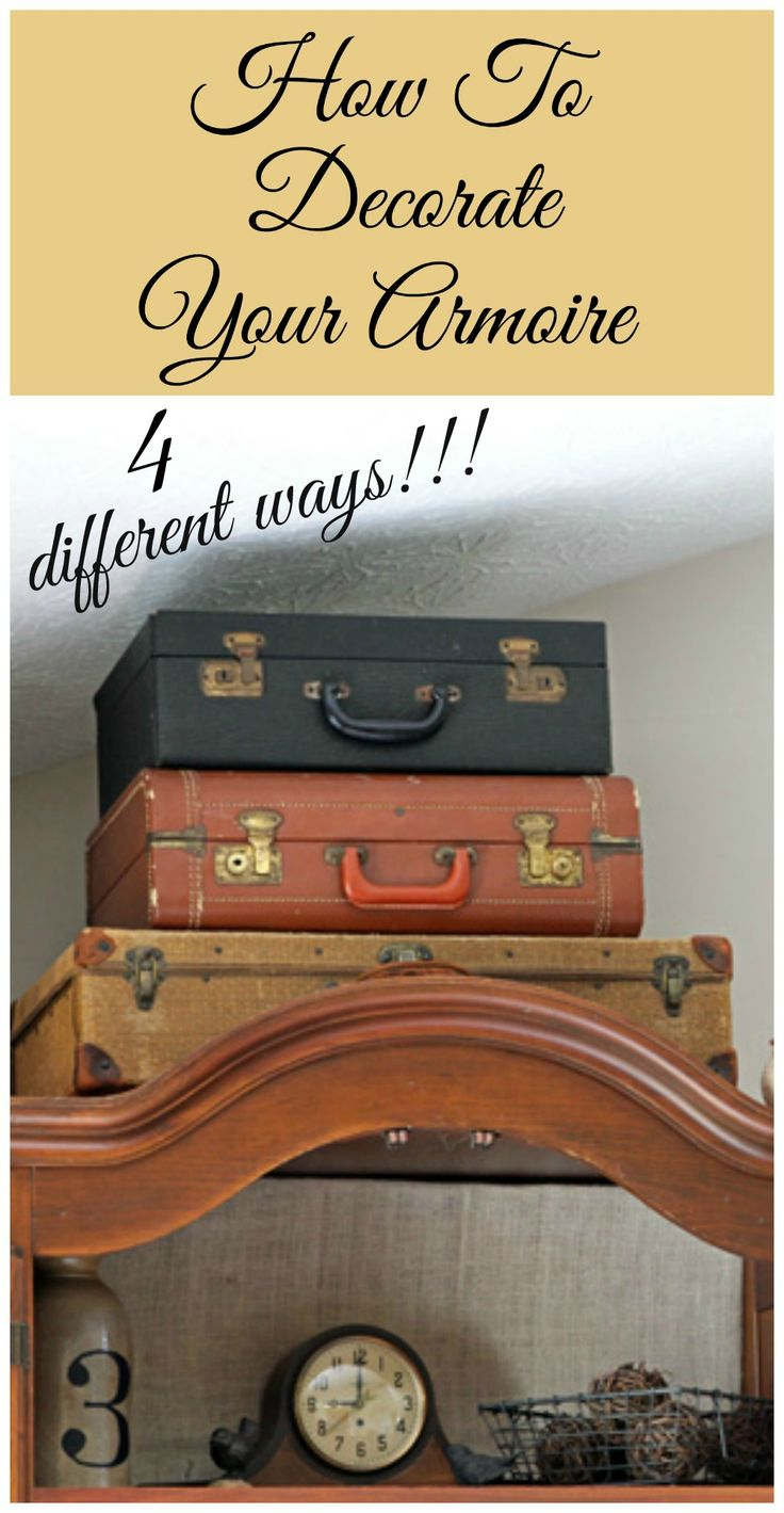 Your home improvements refference solid wood wardrobe closet - Best 25 Armoire Decorating Ideas On Pinterest Armoires Vintage File Cabinet And Vintage Metal