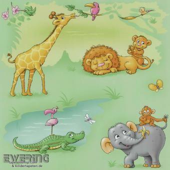 Niedliche Giraffen, Elefanten, Löwen, Affen ufm. sorgen für viel Freude im Baby-Zimmer - Dieter 4 Kid`z von P+S International