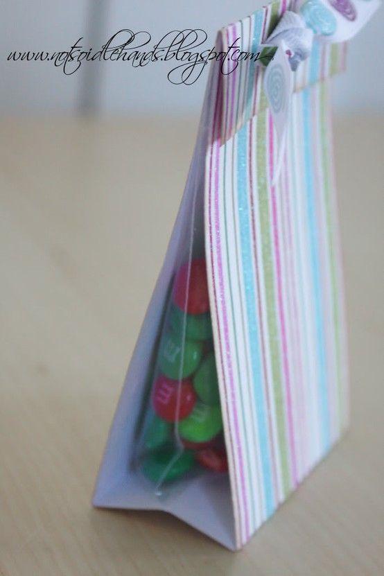 Scrap book paper treat bags