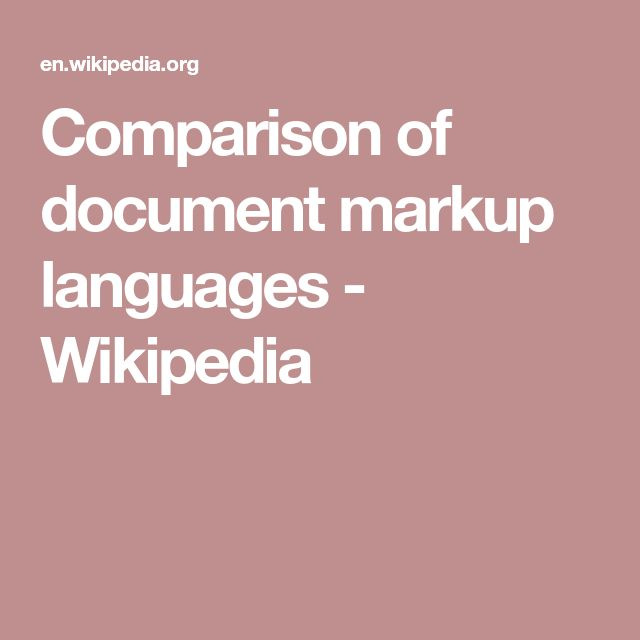 Comparison of document markup languages - Wikipedia