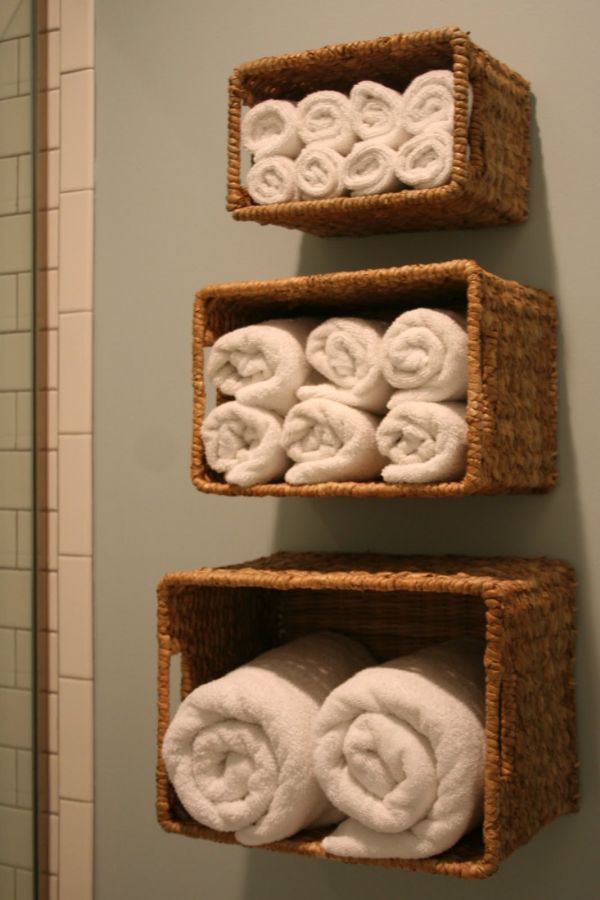using old baskets to decorate | Quick Ways To Use Baskets Around The House