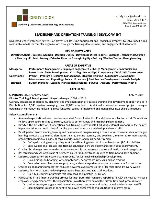 Example Resume for Training And Development - http://resumesdesign.com/example-resume-for-training-and-development/