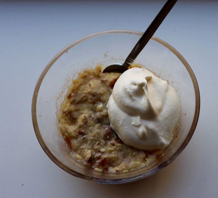 Opskrift på æblekage i mikroovn