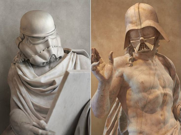 Star Wars Characters Greek Statues