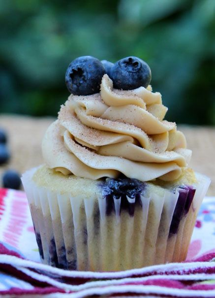 Blueberry Pancake Cupcakes by Your Cup of Cake