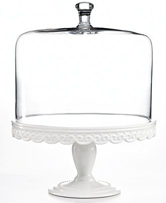Always serve with style — Martha Stewart Collection embossed cake stand