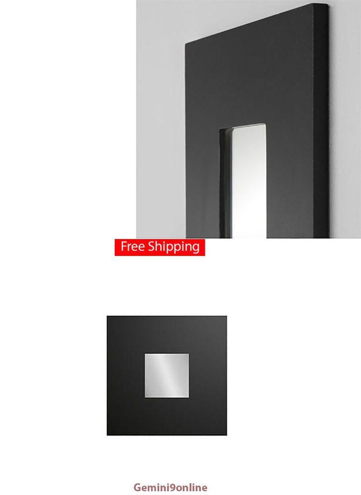 IKEA Wall Decor Mirror MALMA 1-pk to 9-Pk Modern Art Black Square Ship FREE #IKEA #Modern