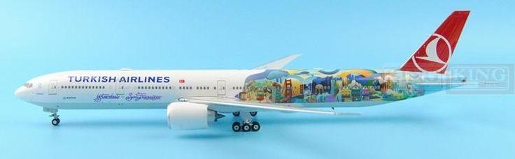 213.50$  Buy now - http://alivb1.worldwells.pw/go.php?t=32598239136 - Eagle 200007 Turkey TC-JJU Airlines 1:200 B777-300ER commercial jetliners plane model hobby 213.50$