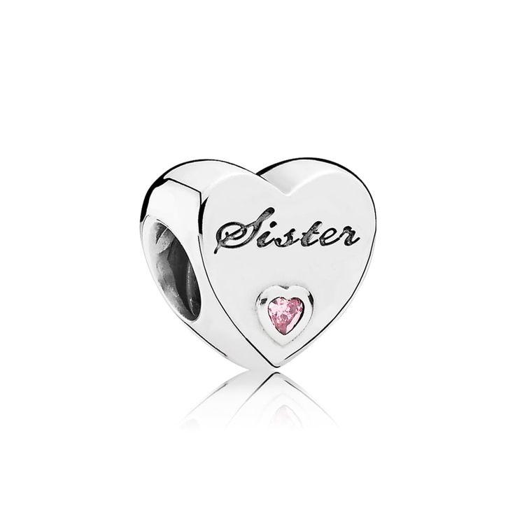 PANDORA Sister's Love Charm 791946PCZ
