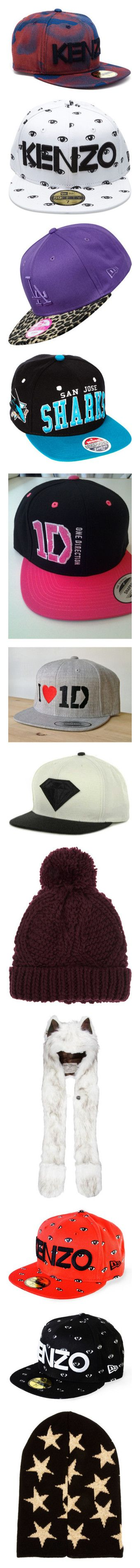 """hats ,caps and beanies *.*"" by adriana-zayn ❤ liked on Polyvore featuring accessories, hats, camo hats, camo cap, camouflage cap, kenzo cap, kenzo hat, sapka, white and print hats"