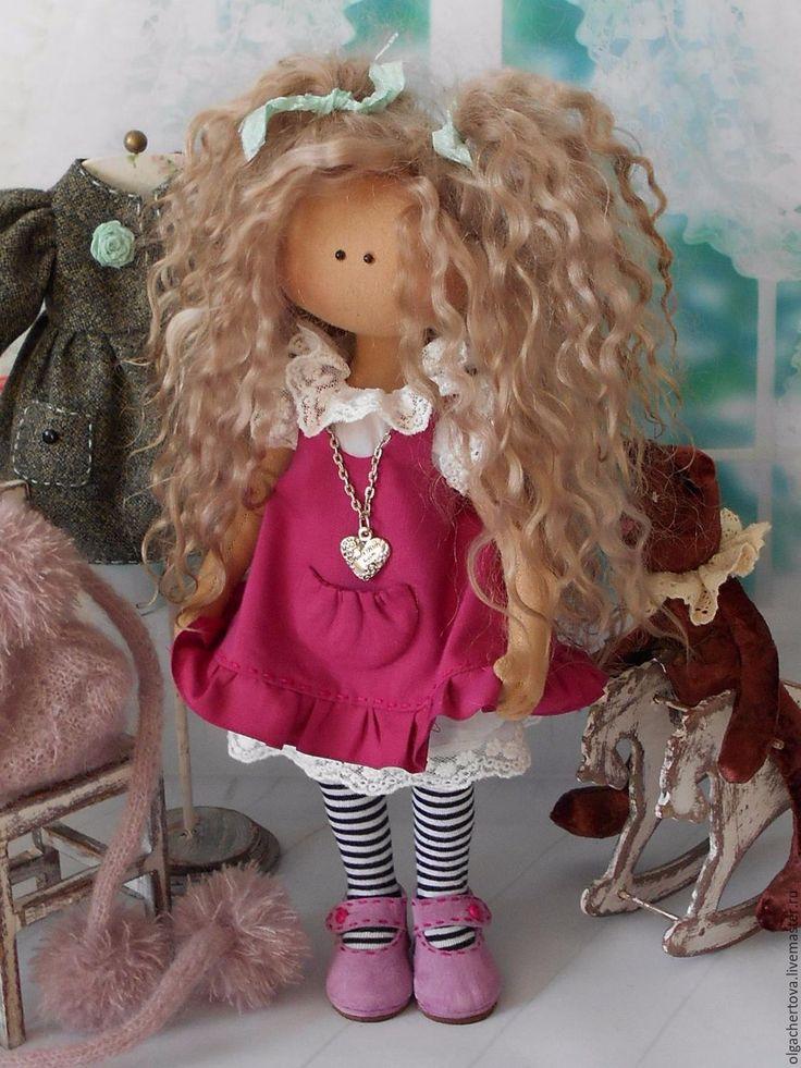 Купить Малышка в пальтишке - комбинированный, кукла интерьерная, кукла ручной работы, кукла, кукла в подарок