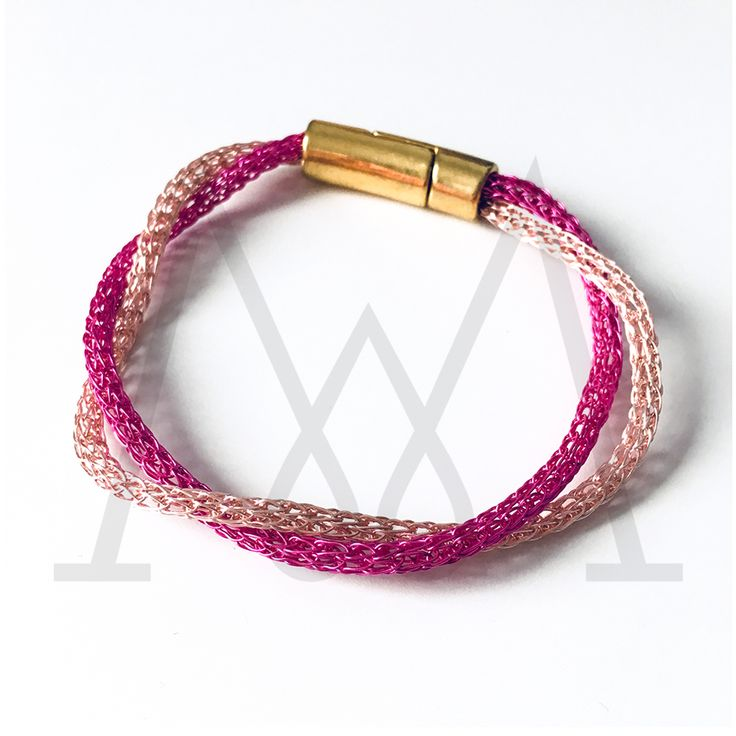 Double Wire bracelet with magnetic clasp