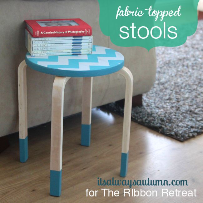 Fabric Kitchen Stools: The Ribbon, Its Always And Jazz
