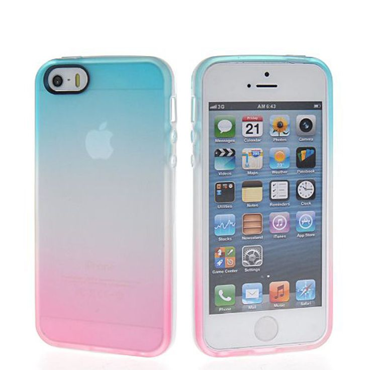 2 Colour Gradient TPU Silicone Gel Back Case For Apple IPhone 6 47 5 5S 5C 4 4S