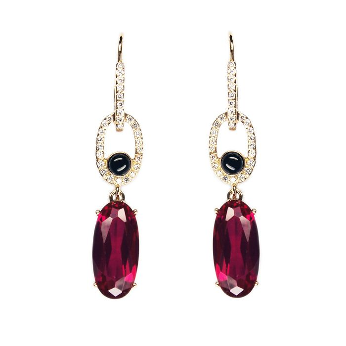 LIKO Ruby and diamond earrings www.lilikoos.com