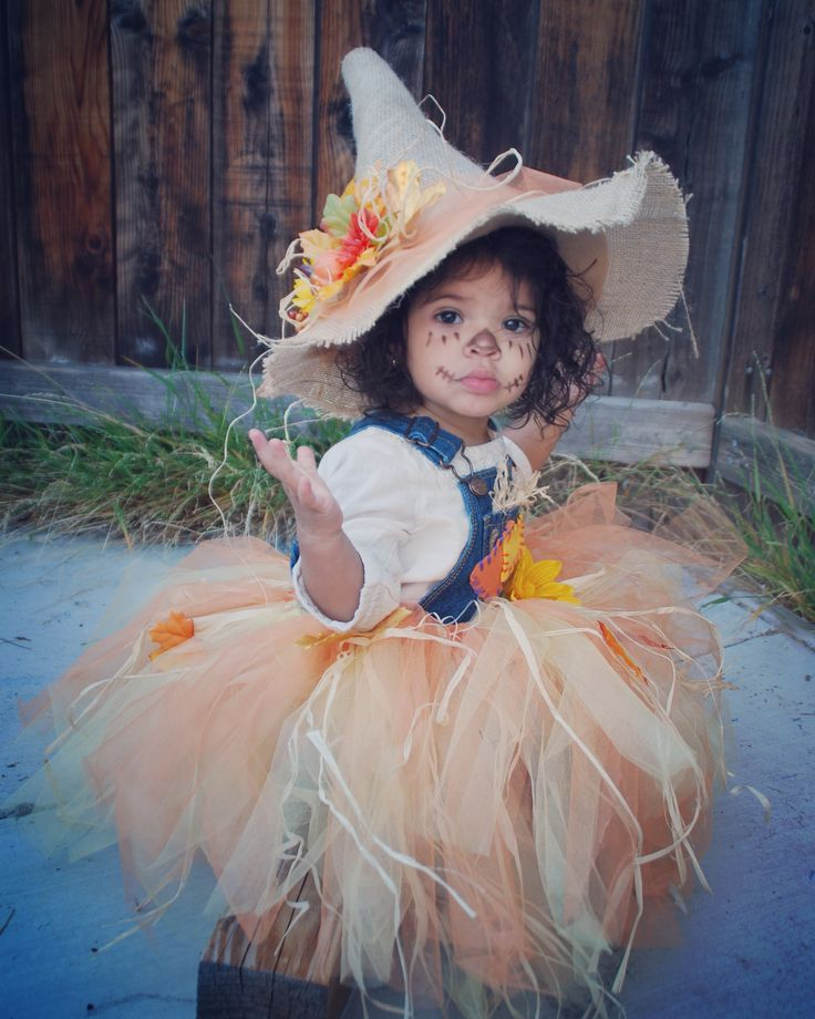 My little Scarecrow.  Bella's Halloween Tutu Costume 2015