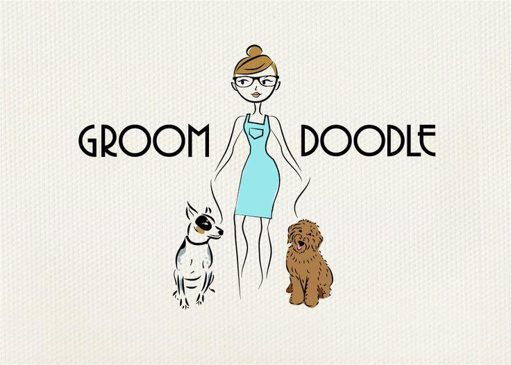 Custom illustration for austin dog grooming company