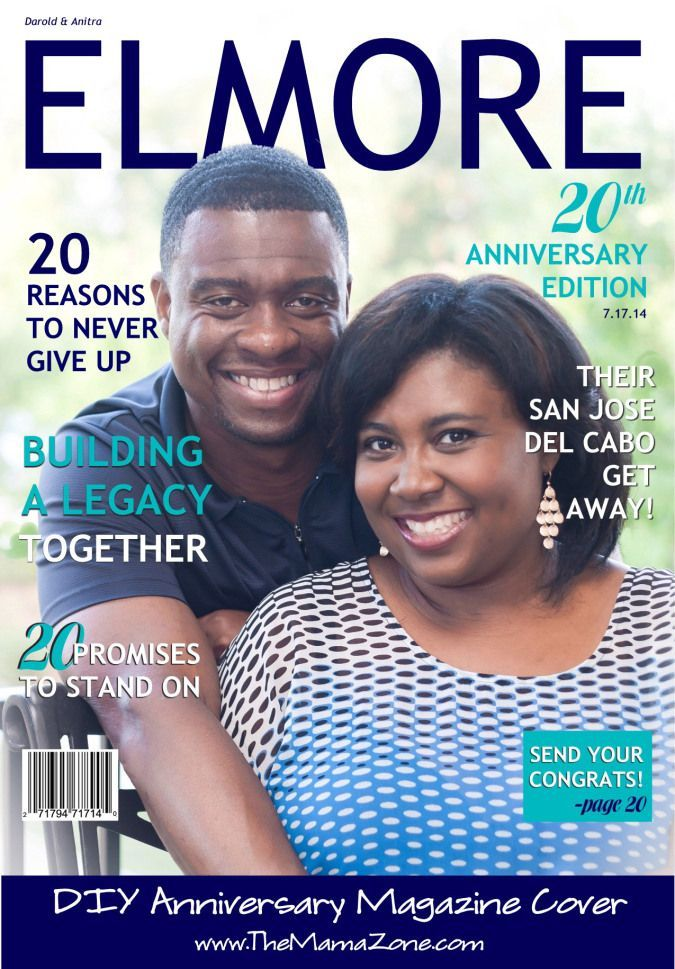 DIY Wedding Anniversary Magazine Cover Photo Gift. This is a clever, easy-to-make couples gift for weddings, anniversaries or just because.