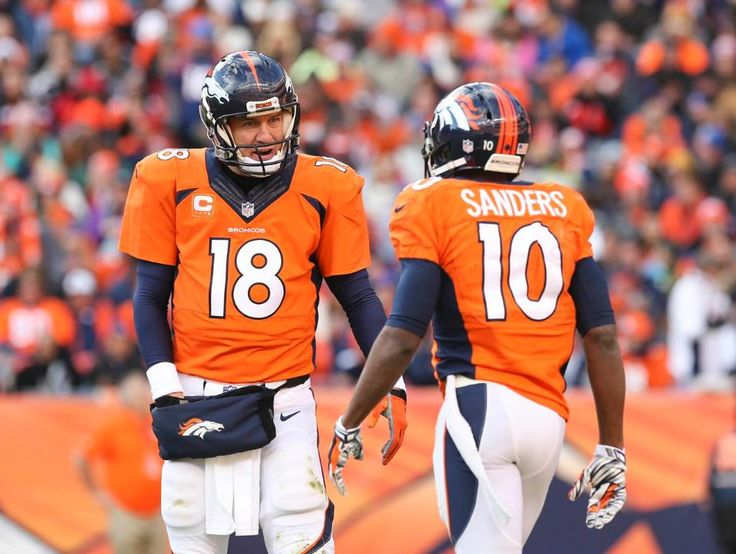 Peyton Manning and Emmanuel Sanders - Broncos vs Raiders (12/28/14)