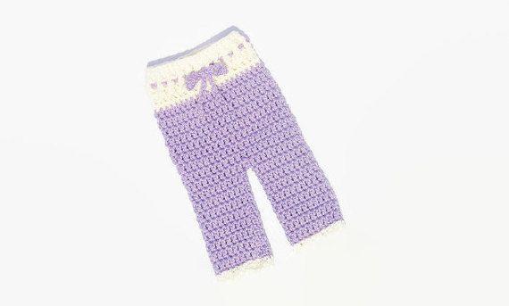 Crochet Newborn Girl Pants Baby Girl Pants by DeesCozyCreations