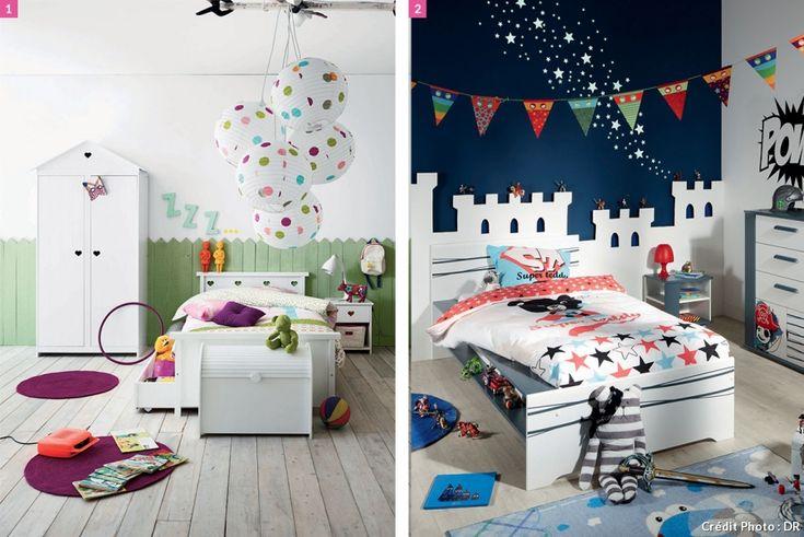 chambre d'enfant avec des lits. Ambiance #fly #conforama