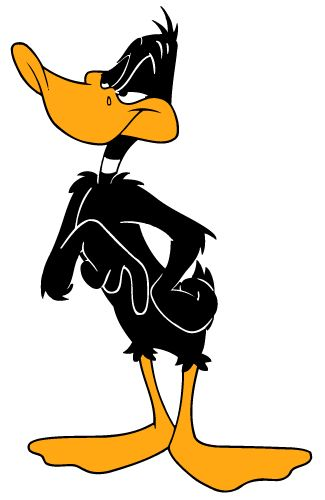 "Daffy Duck --- is an animated cartoon character produced by Warner Bros. Looney Tunes and Merrie Melodies are series of cartoons which Daffy has appeared on. Daffy is usually seen as the best friend and sometimes arch-rival of Bugs Bunny. Daffy was one of the first of the new ""screwball"" characters that emerged in the late 1930s to replace traditional everyman characters, such as Mickey Mouse and Popeye, who were more popular earlier in the decade[citation needed]. Daffy starred in 133…"