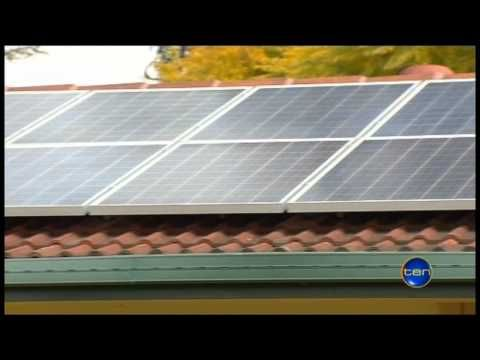 Solar panel safety warning highlighted on Channel 10 News.