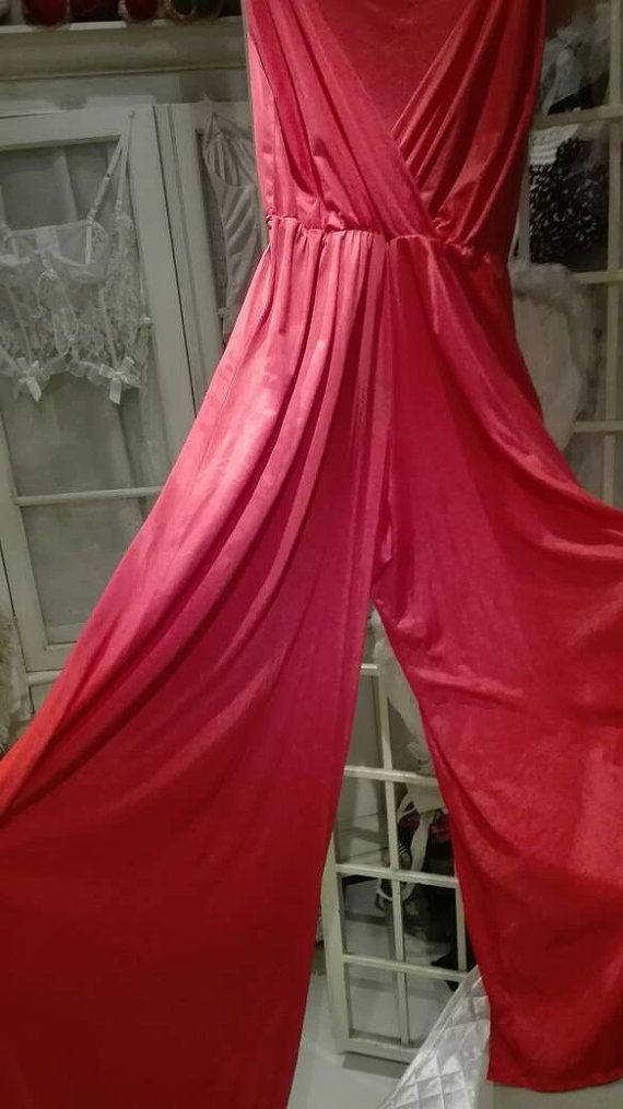 Suit sexy red sensual red palazzo pants 70 red gift Bride BRIDE