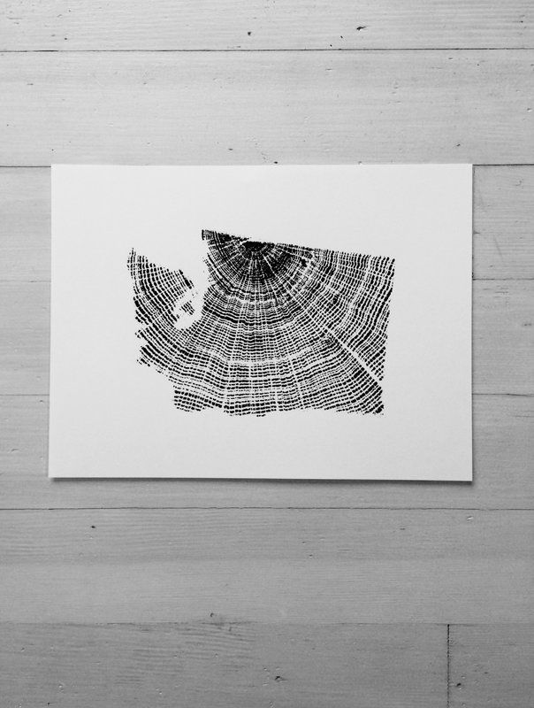 Washington Graphic Art Map Wall Art Washington Art Art