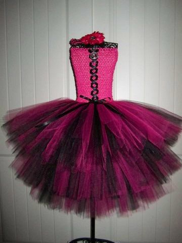 In stockLarge Monster High Draculaura inspired Tutu by MonkeyTutus, $35.00