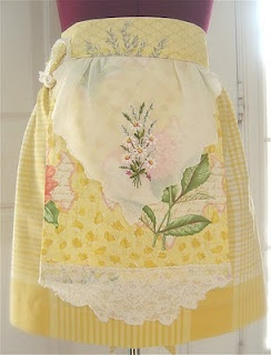 Want to see some gorgeous, unique modern aprons--click through--there's not an apron on this designer's site that isn't swoon-worthy.
